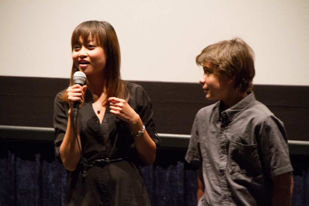 actors Tiffany Kieu (Iris) and Pearce Joza (Caden)